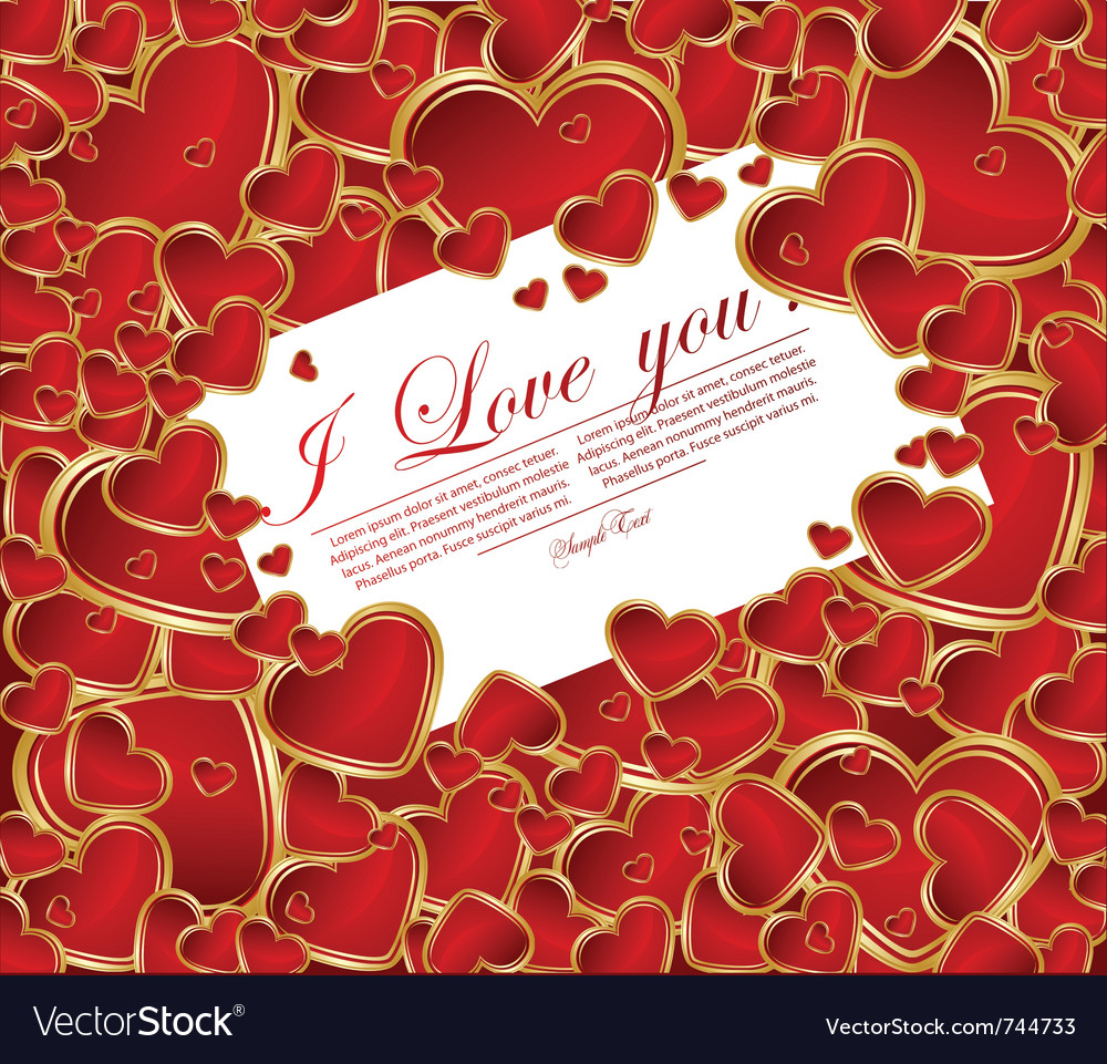 Glossy red hearts vector | Price: 1 Credit (USD $1)