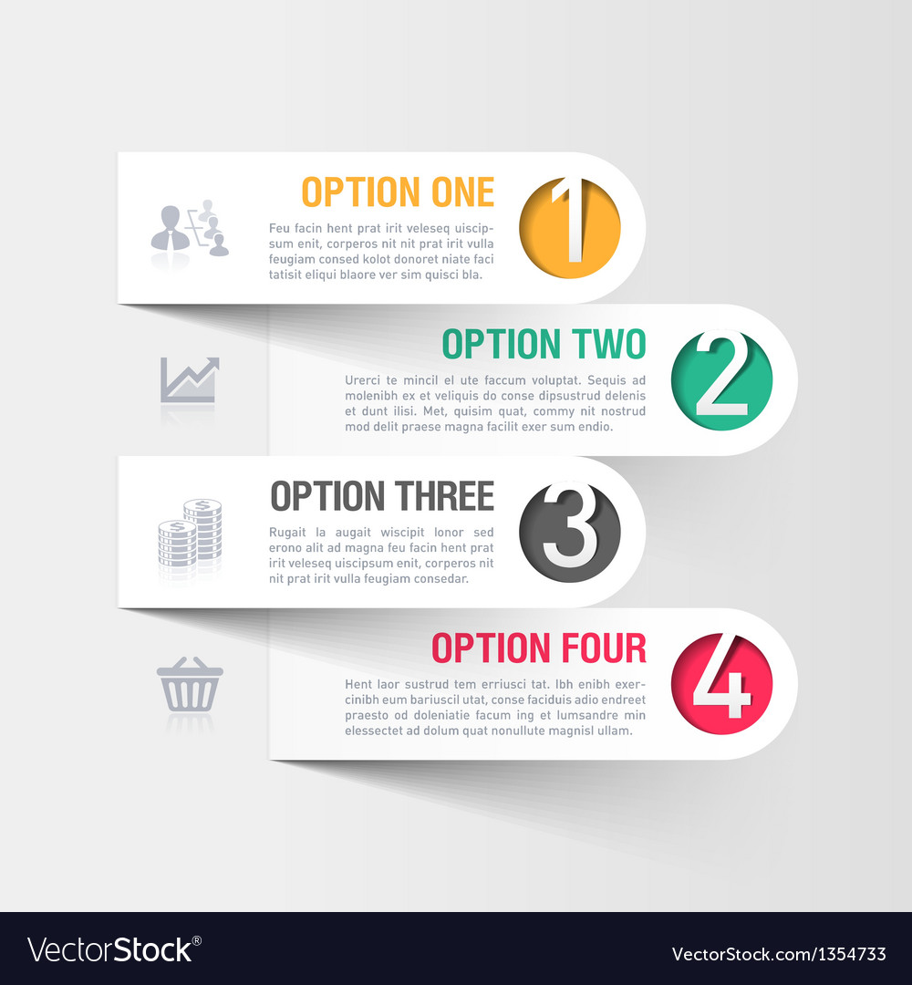 Modern business infographics template vector | Price: 1 Credit (USD $1)
