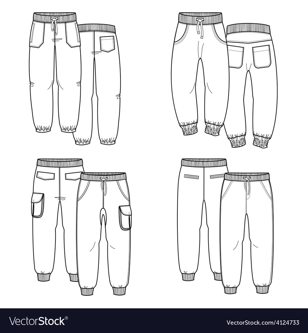 Pants outline vector | Price: 1 Credit (USD $1)