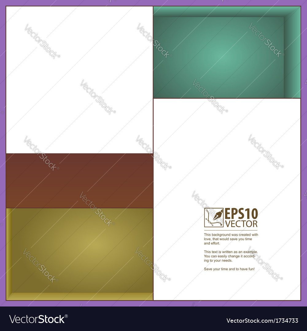 Rectangles and niches vector | Price: 1 Credit (USD $1)