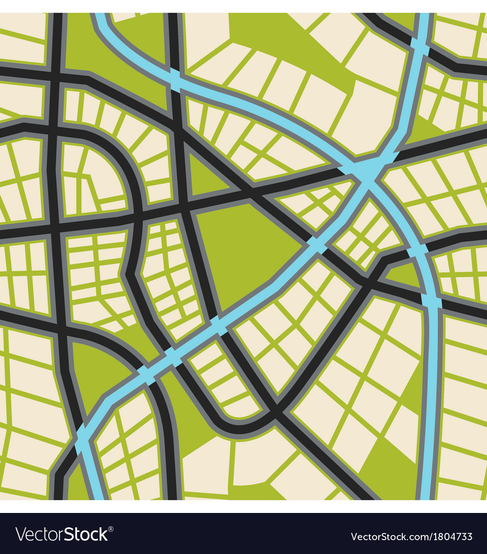 Seamless city map wallpaper vector | Price: 1 Credit (USD $1)