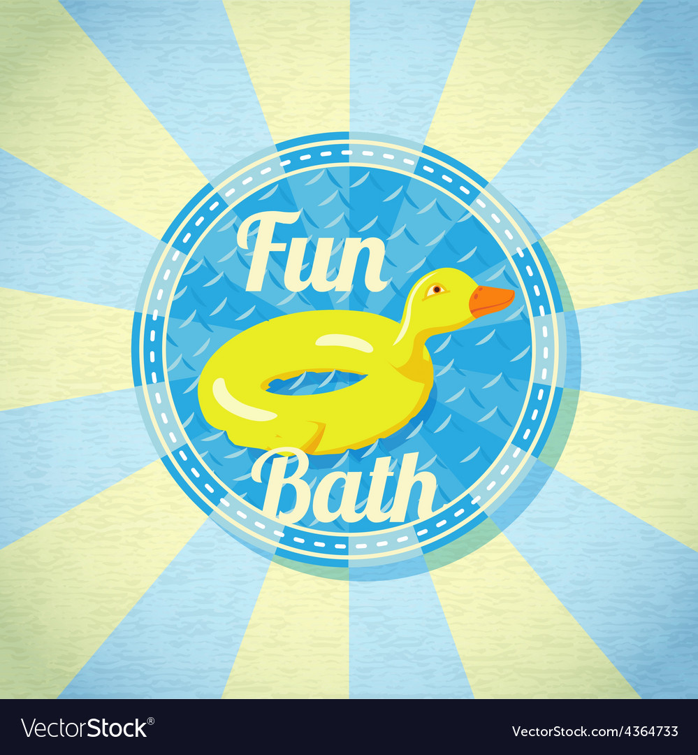 Summer fun sea rubber duck vector | Price: 3 Credit (USD $3)