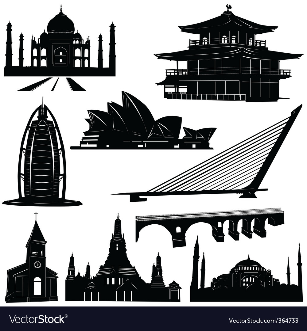 Urban architecture building vector | Price: 1 Credit (USD $1)