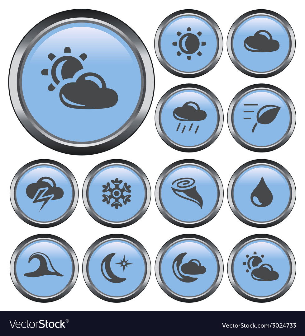Weather buttons vector | Price: 1 Credit (USD $1)