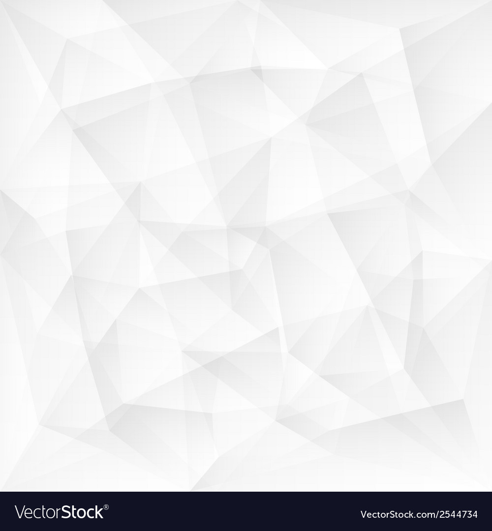 Abstract white triangle polygonal background vector | Price: 1 Credit (USD $1)