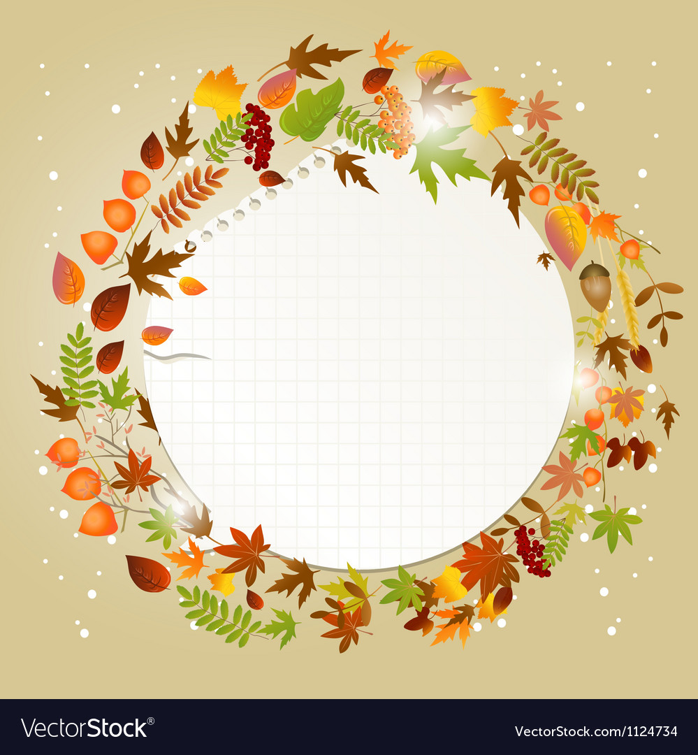 Autumn greeting card with place for text vector | Price: 1 Credit (USD $1)