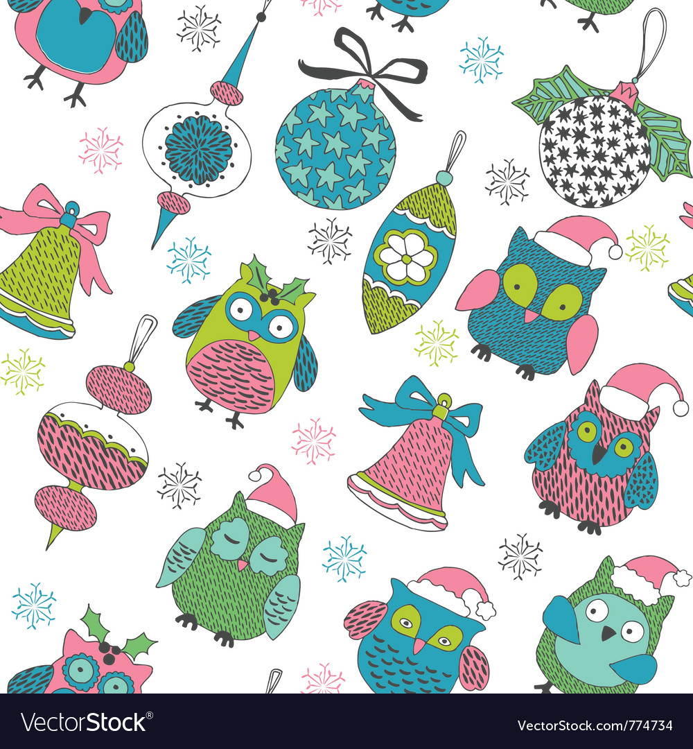 Christmas owls vector | Price: 1 Credit (USD $1)