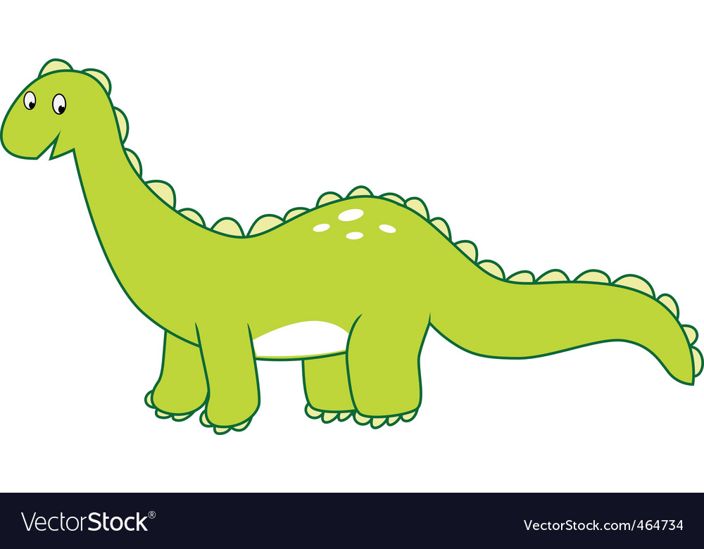 Dinosaur brontosaurus vector | Price: 1 Credit (USD $1)