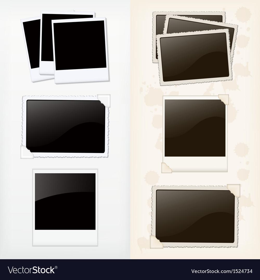 Empty photo frames vector | Price: 1 Credit (USD $1)