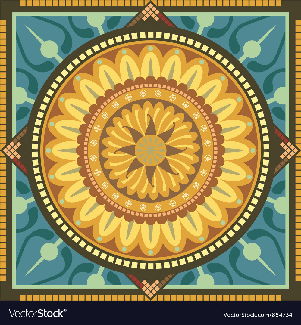 Floral mandala vector | Price: 1 Credit (USD $1)