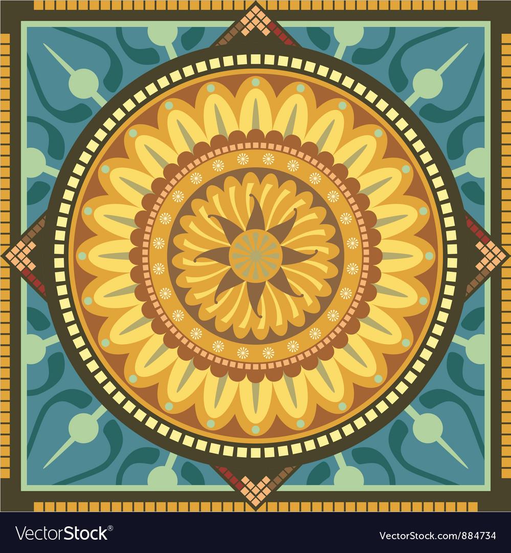 Floral mandala vector | Price: 1 Credit (USD $1)