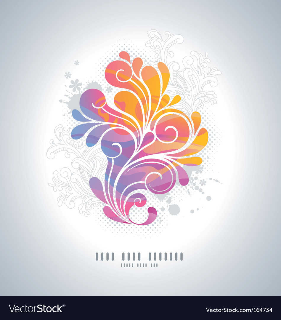 Rainbow swirls vector | Price: 1 Credit (USD $1)