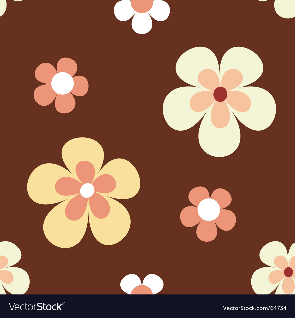 Retro flower pattern vector | Price: 1 Credit (USD $1)
