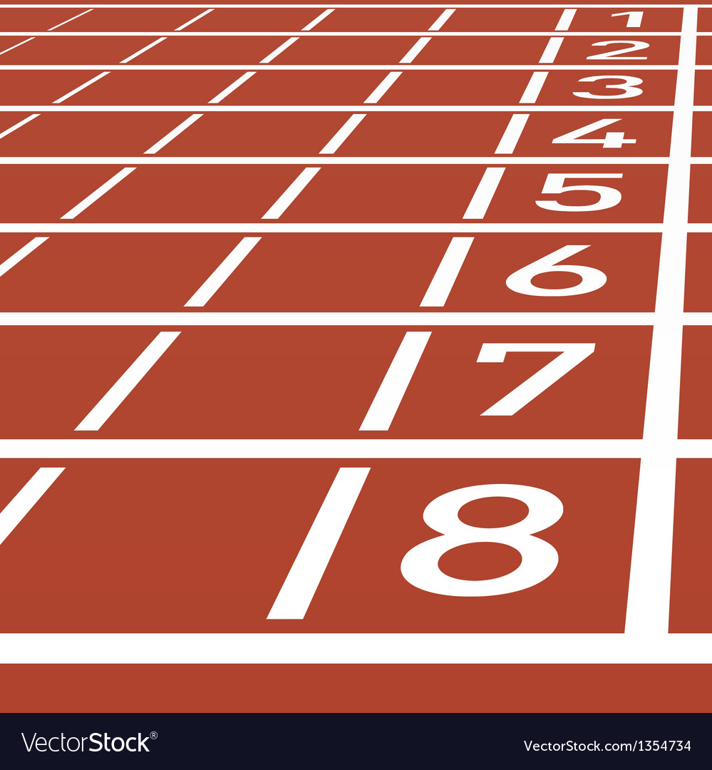 Track lane numbers vector | Price: 1 Credit (USD $1)