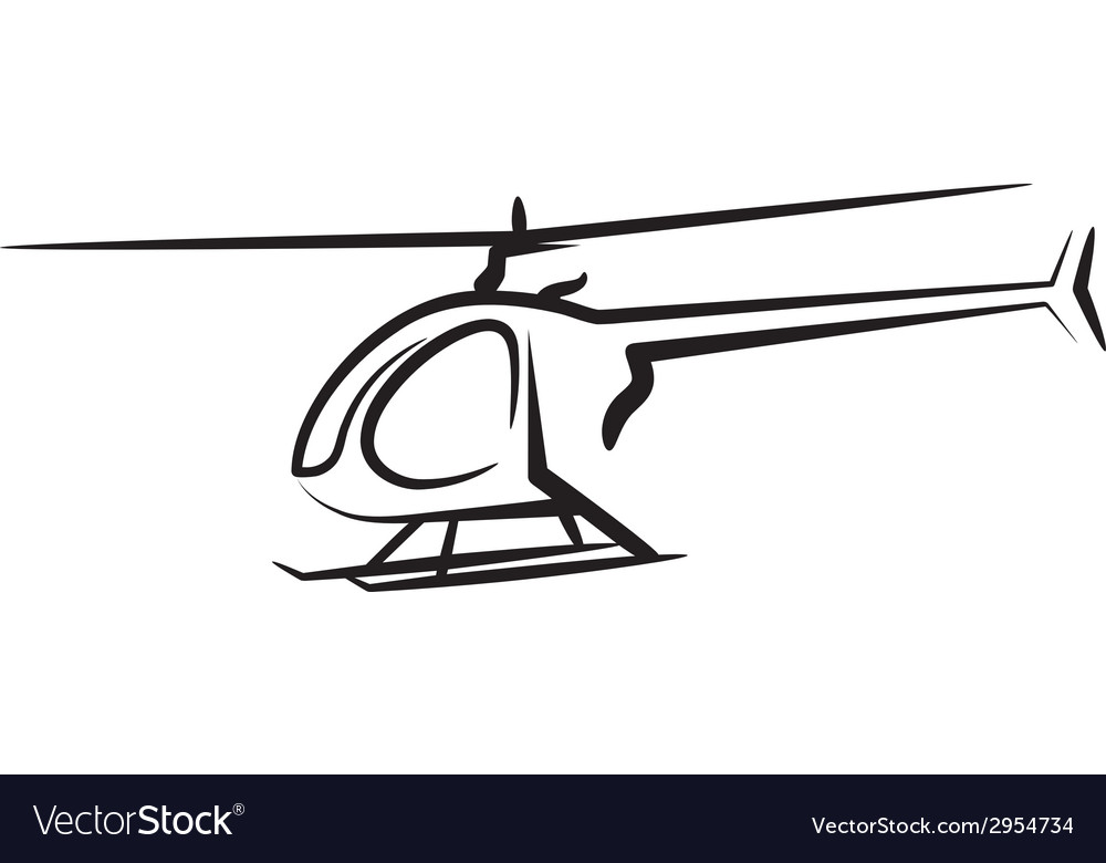 With a helicopter vector | Price: 1 Credit (USD $1)