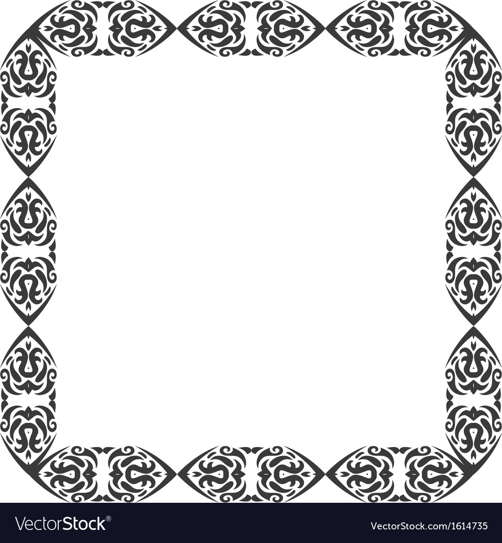 Abstract ornament frame vector | Price: 1 Credit (USD $1)