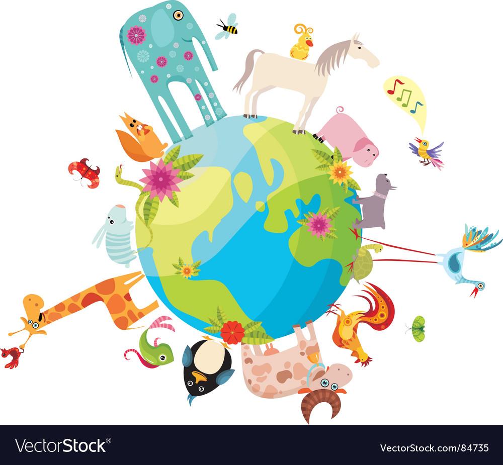 Animal planet vector | Price: 1 Credit (USD $1)