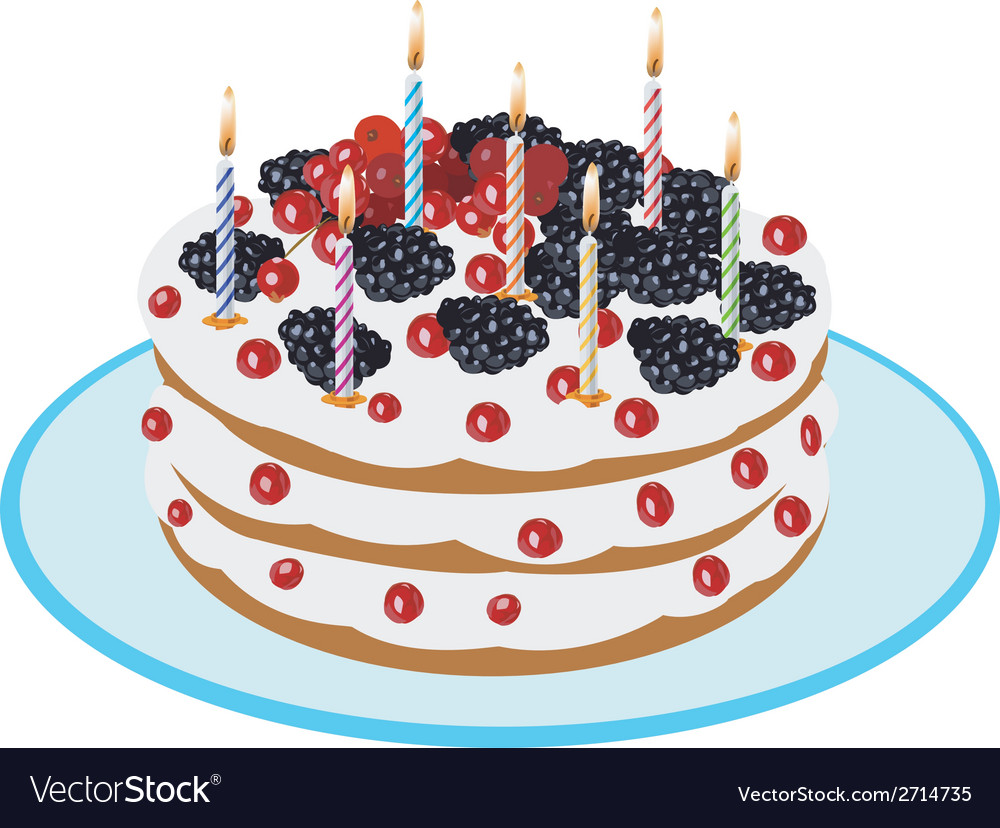 Birthday cake - vector | Price: 1 Credit (USD $1)