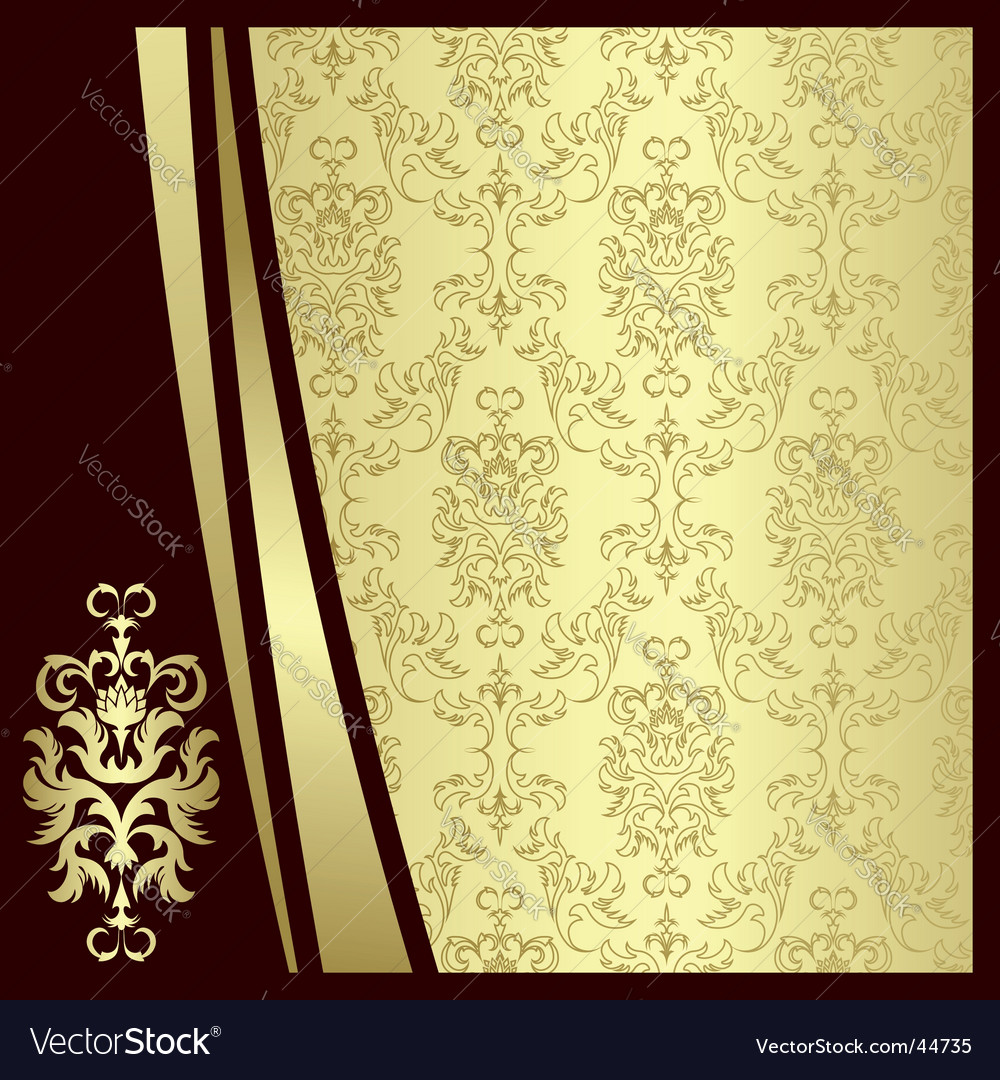 Gold flowers vector | Price: 1 Credit (USD $1)