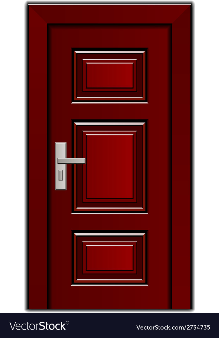 Luxury mahogany wooden entrance door vector | Price: 1 Credit (USD $1)