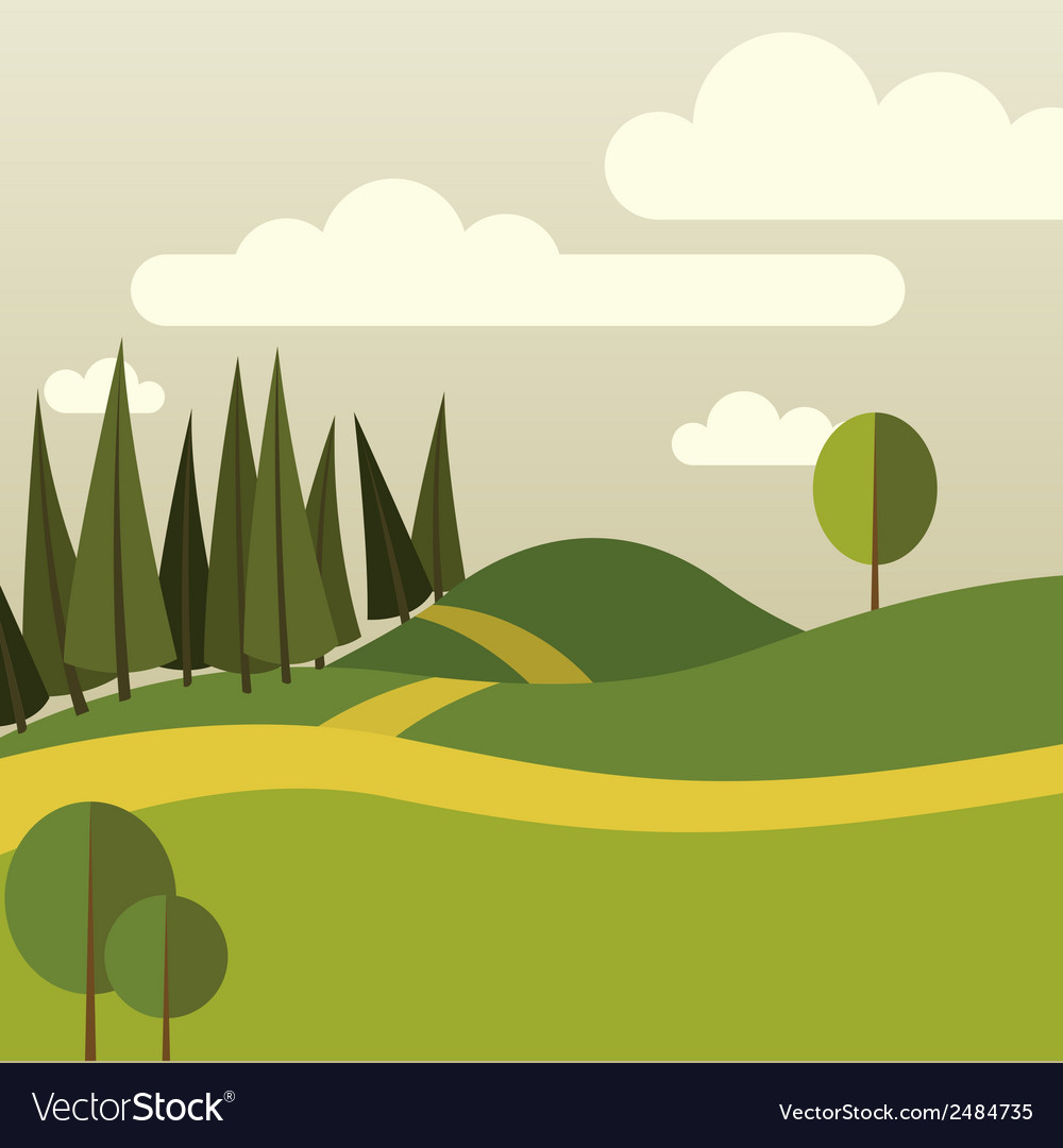 Nature part one vector | Price: 1 Credit (USD $1)