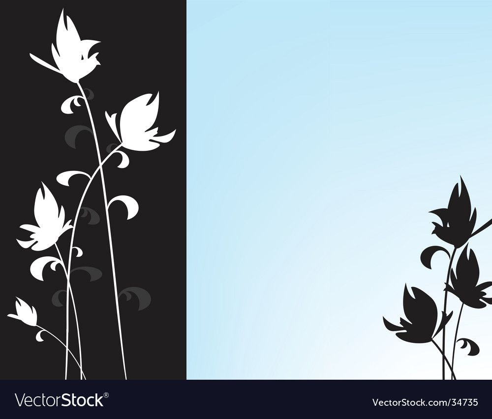 Oriental floral background in blue vector | Price: 1 Credit (USD $1)