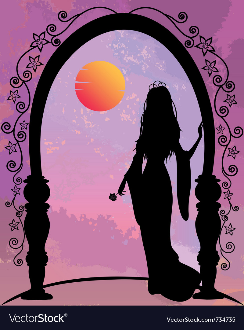 Princess silhouette vector | Price: 1 Credit (USD $1)