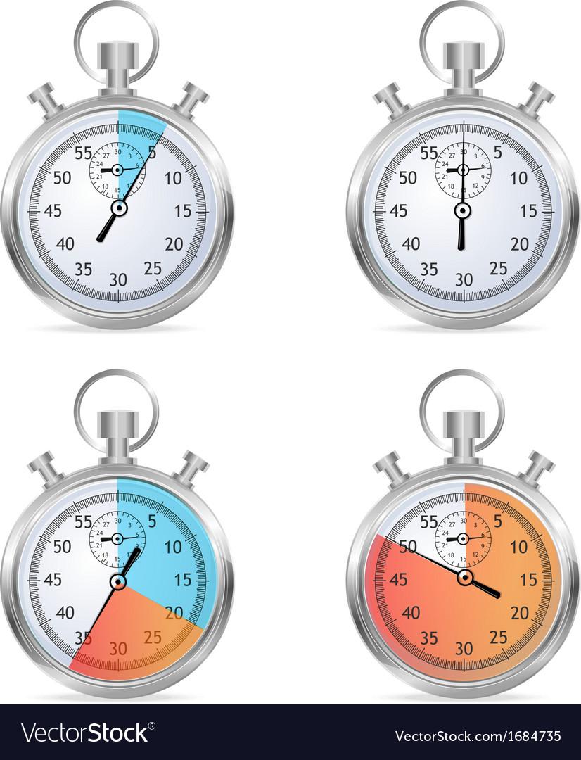 Stopwatch set vector | Price: 1 Credit (USD $1)