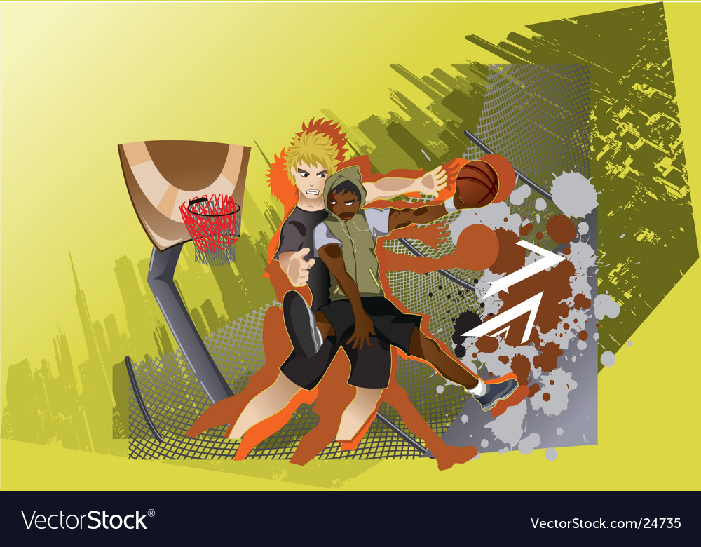 Street basketball vector | Price: 3 Credit (USD $3)