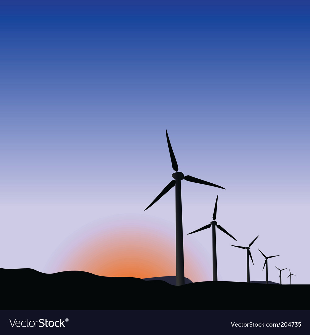 Wind generators of sunrise vector | Price: 1 Credit (USD $1)