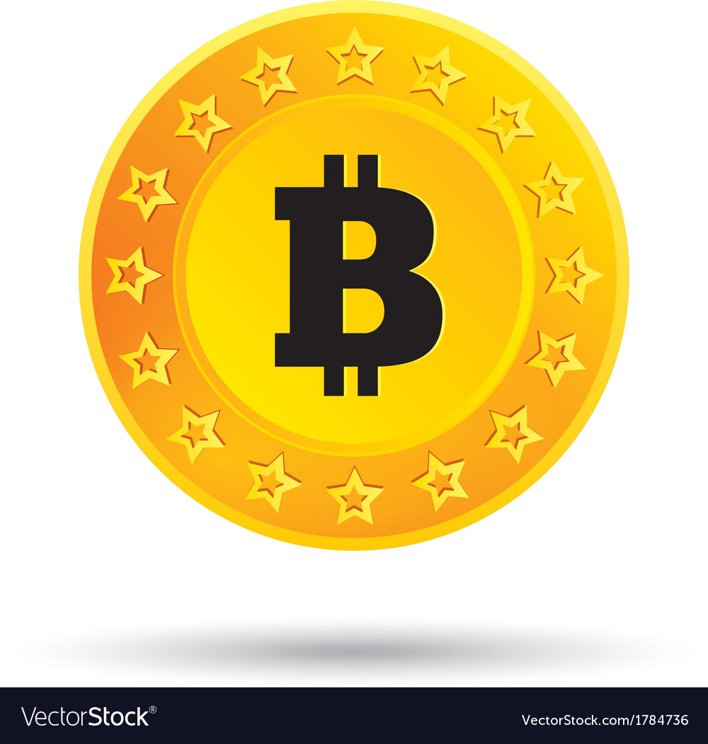 Bitcoin icon cryptography currency p2p vector | Price: 1 Credit (USD $1)