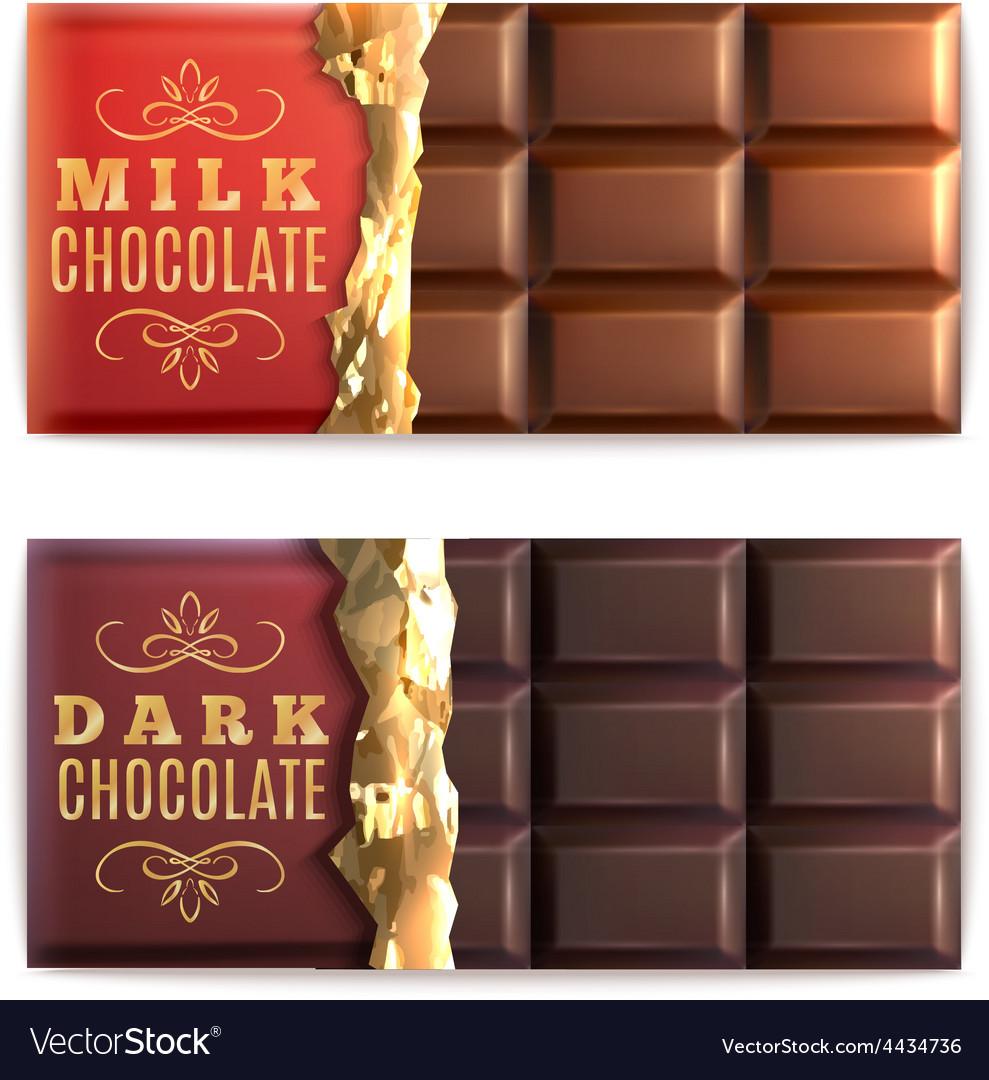 Chocolate bars set vector | Price: 1 Credit (USD $1)