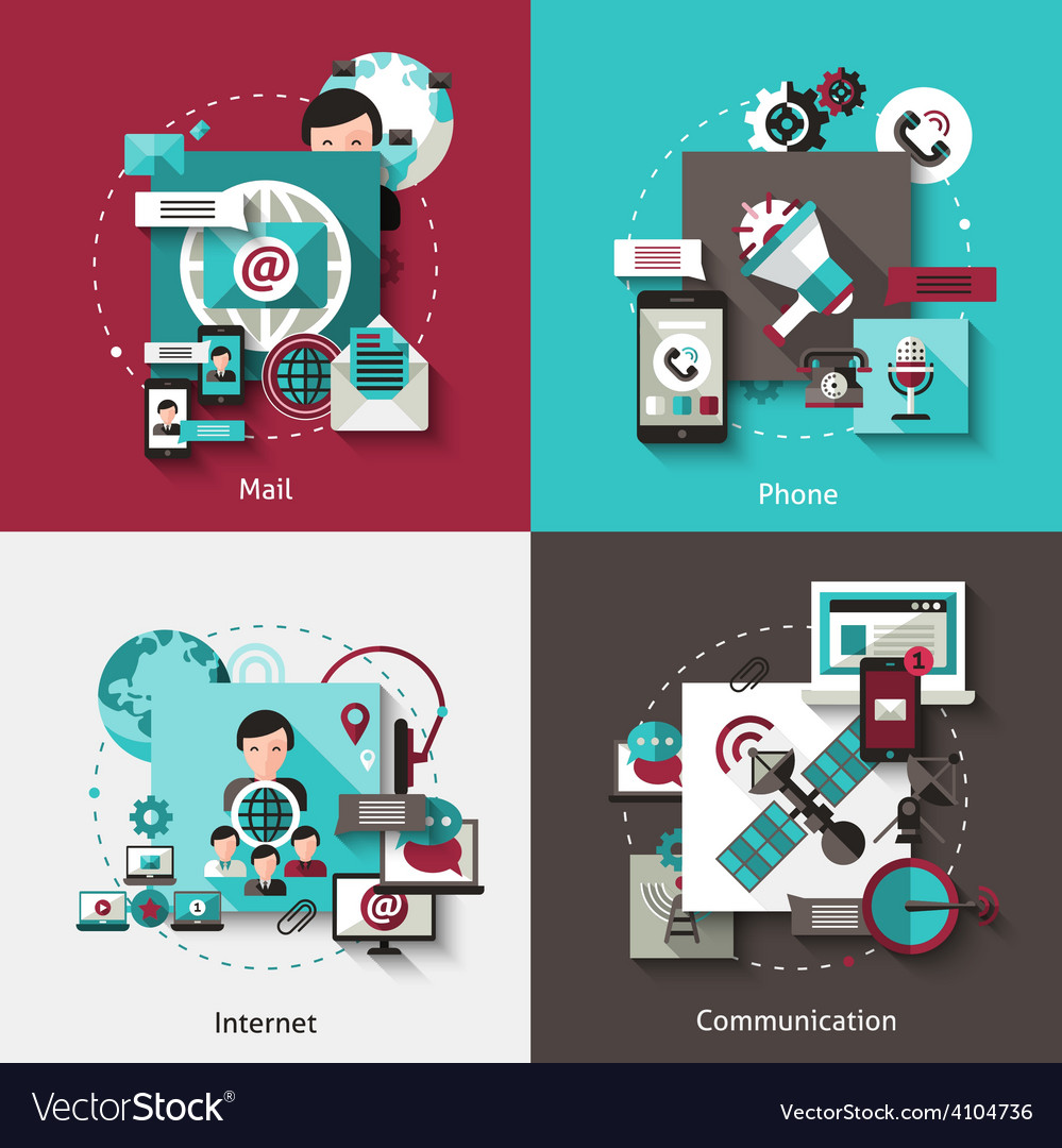 Communication design concept set vector | Price: 1 Credit (USD $1)