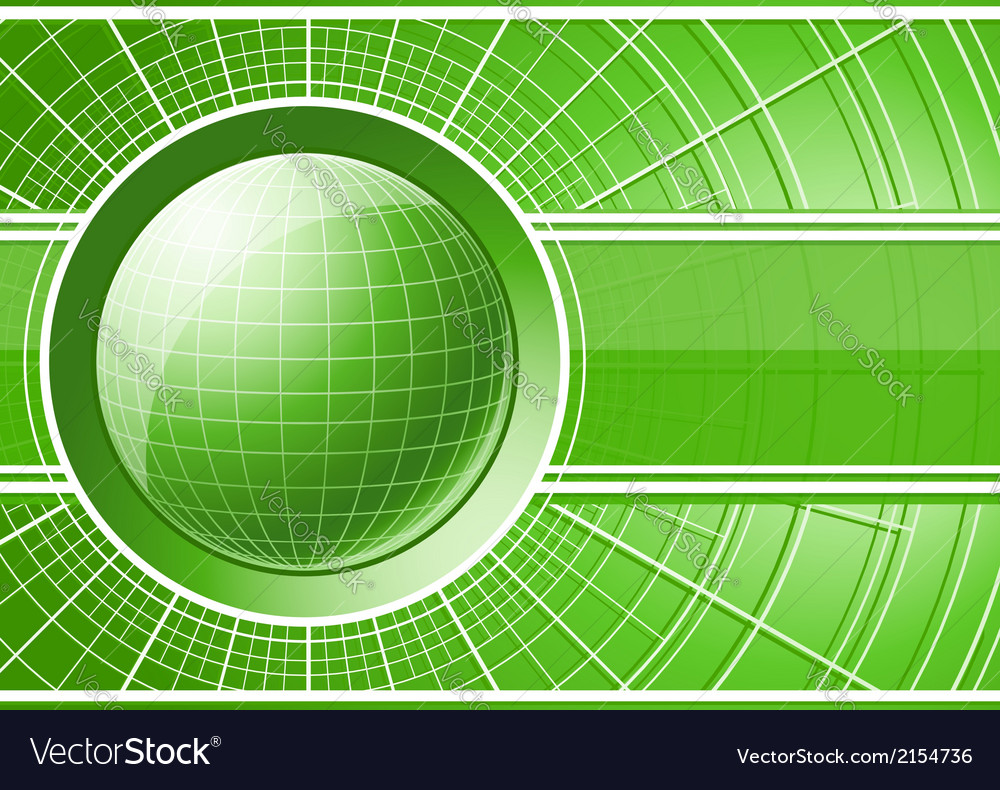 Green background with globe vector | Price: 1 Credit (USD $1)
