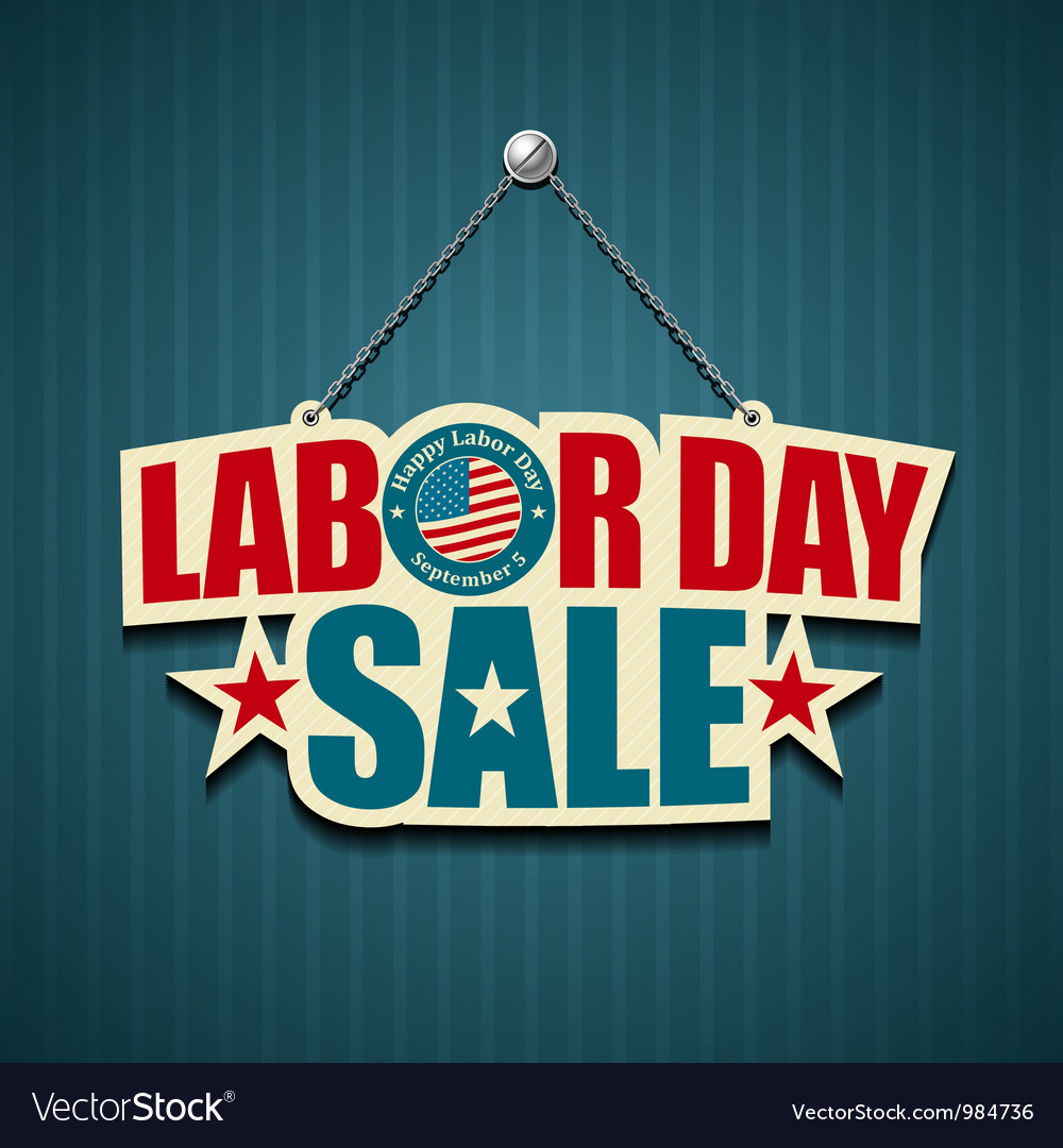 Labor day usa design vector | Price: 1 Credit (USD $1)