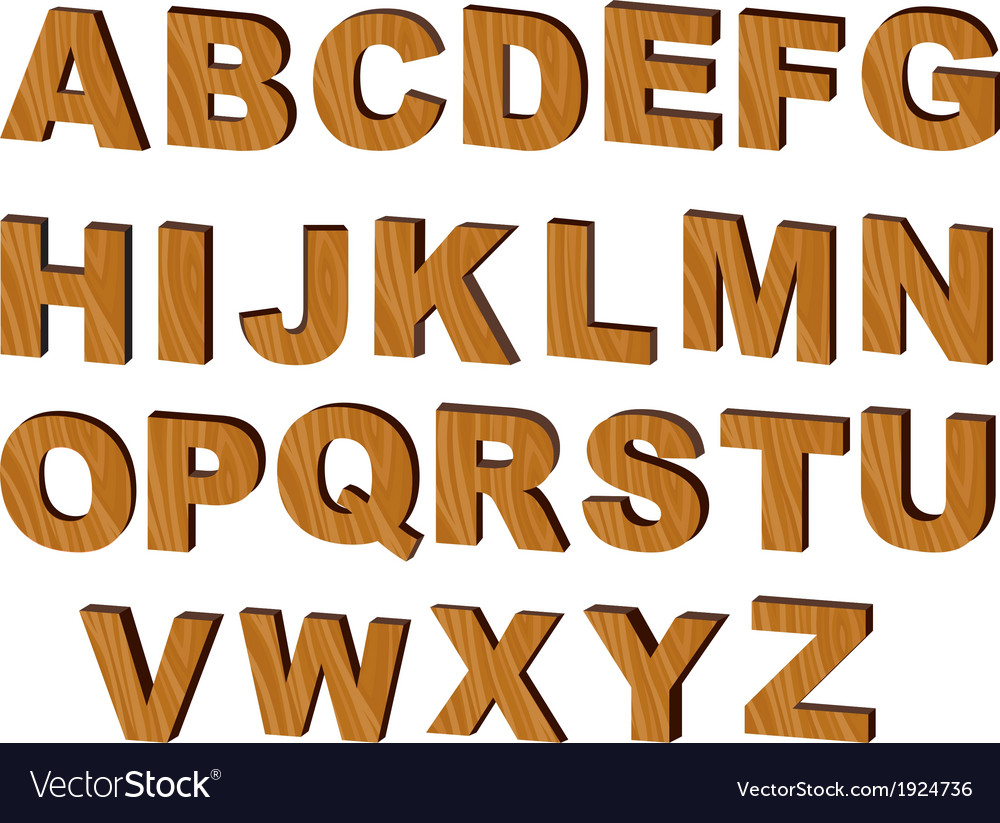 Letters of the alphabet vector | Price: 3 Credit (USD $3)