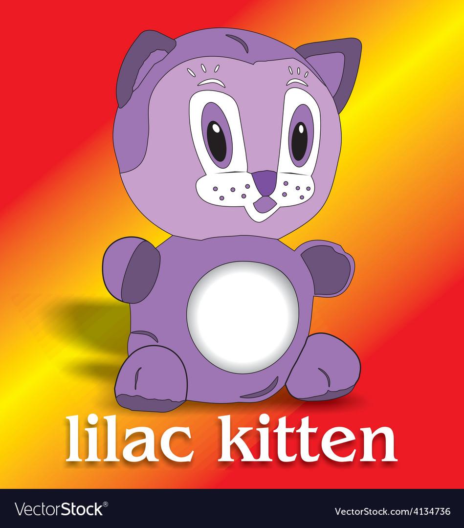Lilac kitten vector   Price: 3 Credit (USD $3)