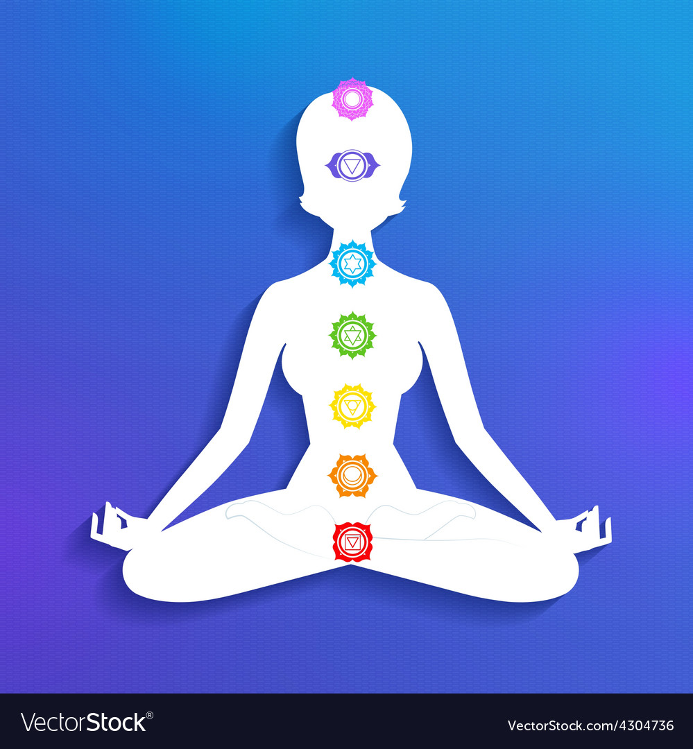 Meditation and chakras vector | Price: 1 Credit (USD $1)