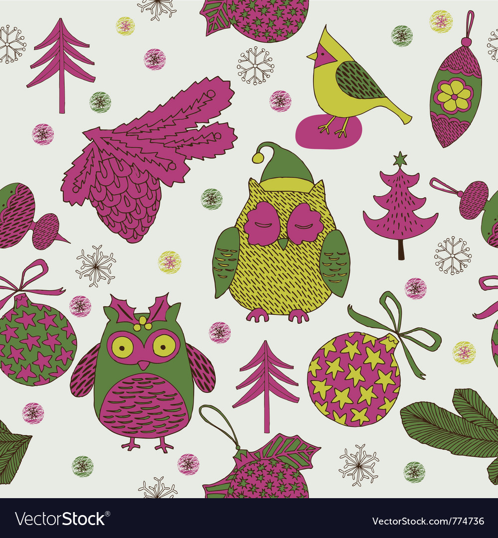 Owl xmas decoration vector | Price: 1 Credit (USD $1)