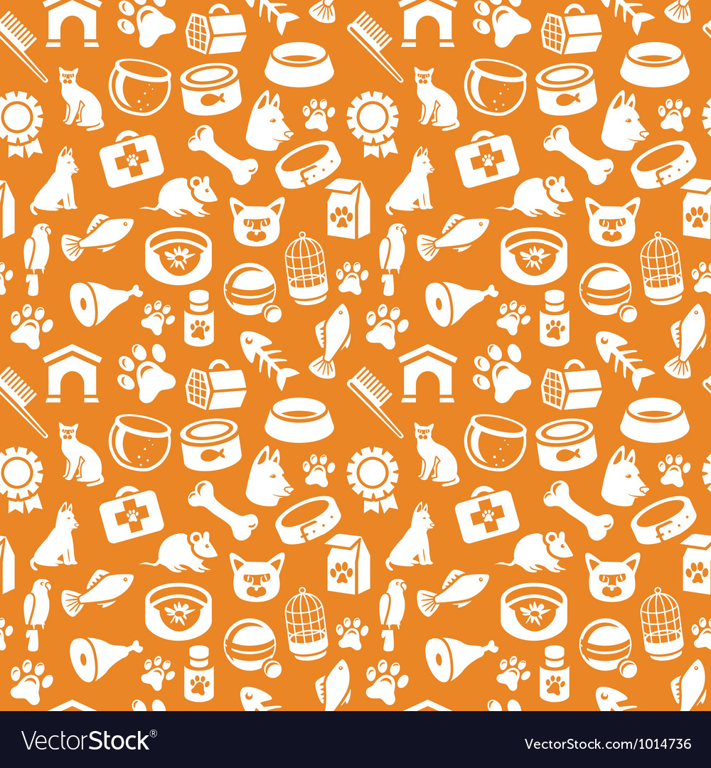 Pattern with funny cat and dog icons vector | Price: 1 Credit (USD $1)