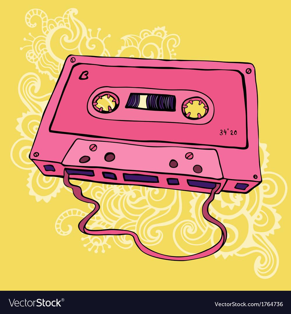 Retro audio cassette tape vector | Price: 1 Credit (USD $1)