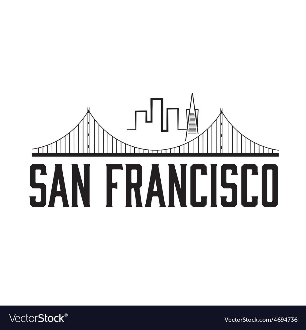 San francisco skyline vector | Price: 1 Credit (USD $1)