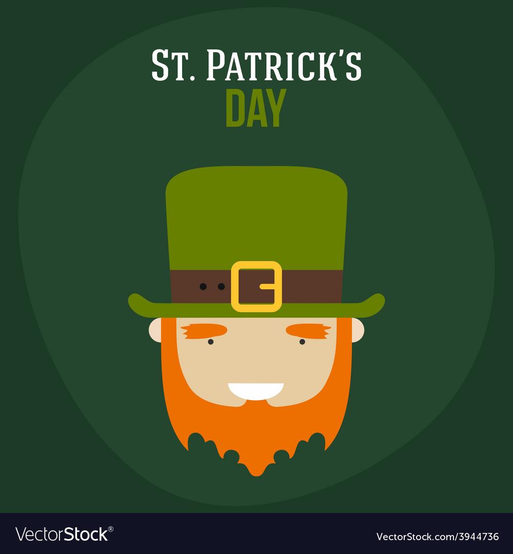 St patricks day card design vintage holiday badge vector | Price: 1 Credit (USD $1)