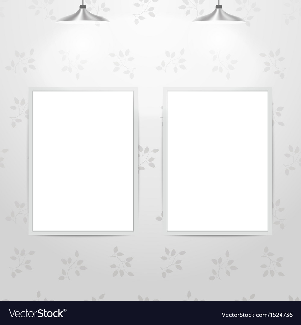 White empty frames hanging on the wall vector | Price: 1 Credit (USD $1)