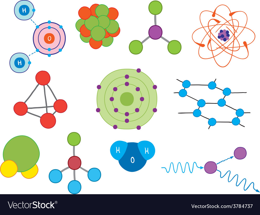 Atoms and molecules vector | Price: 1 Credit (USD $1)