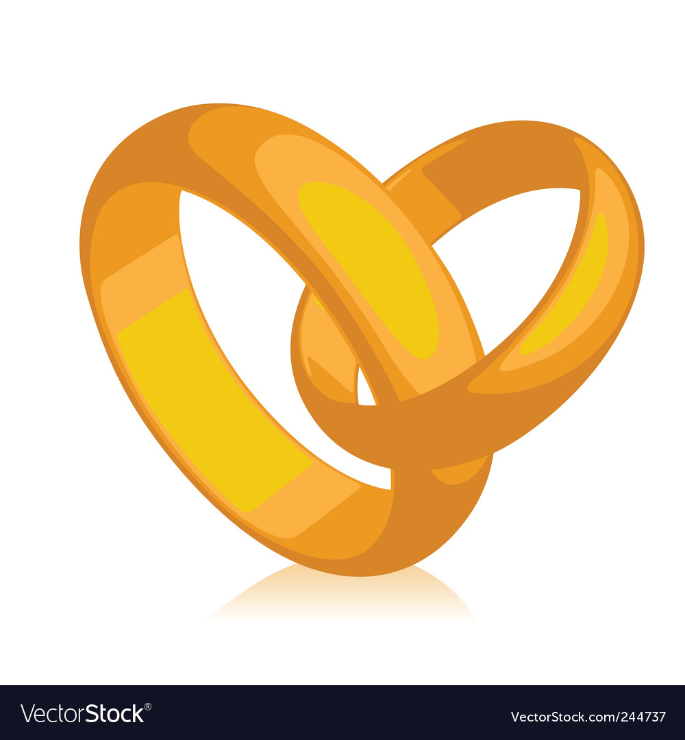 Band of gold wedding rings vector | Price: 1 Credit (USD $1)