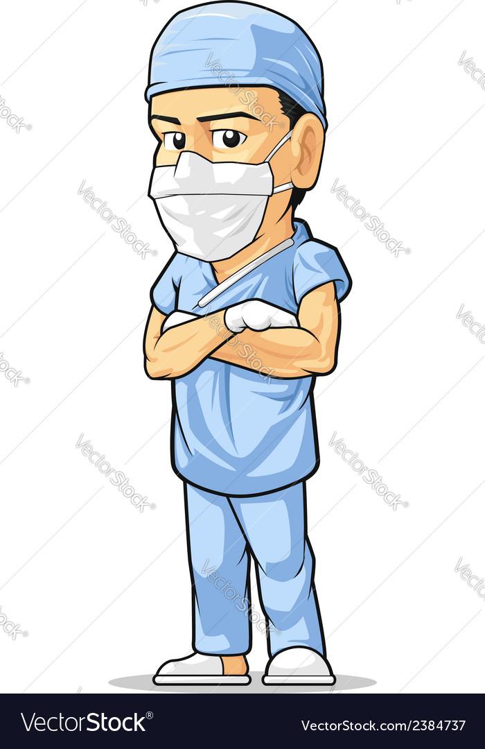 Cartoon of surgeon vector | Price: 1 Credit (USD $1)