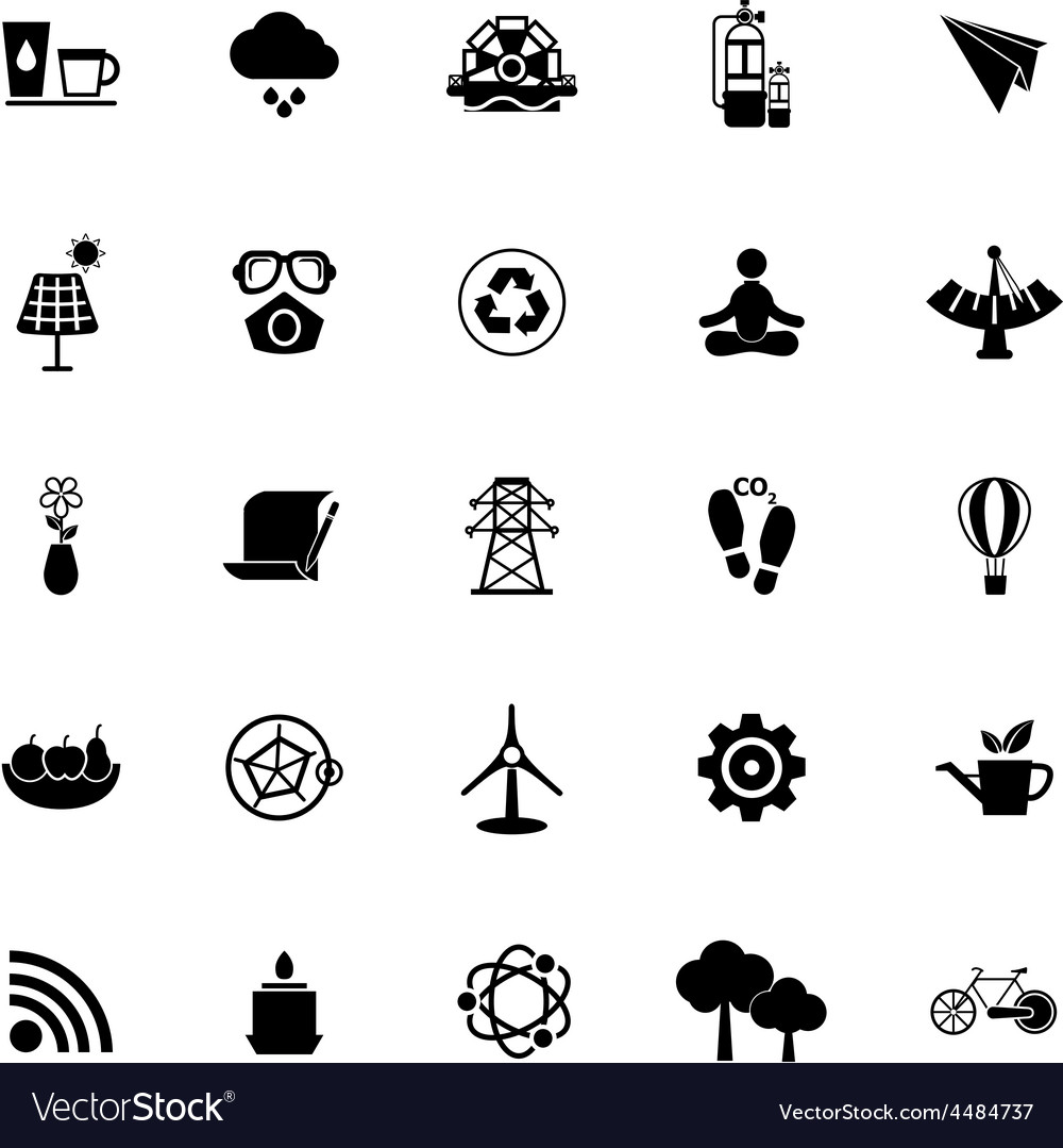 Clean concept icons on white background vector | Price: 1 Credit (USD $1)