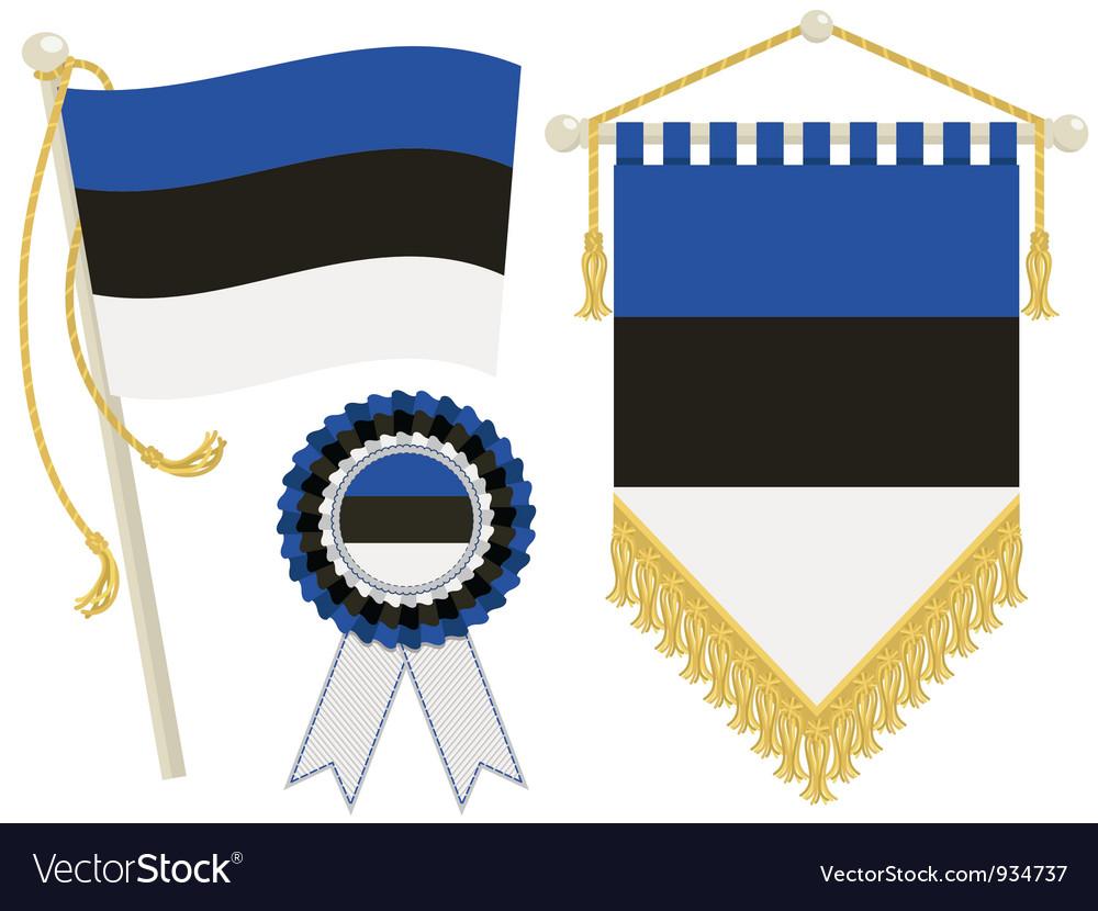 Estonia flags vector | Price: 1 Credit (USD $1)