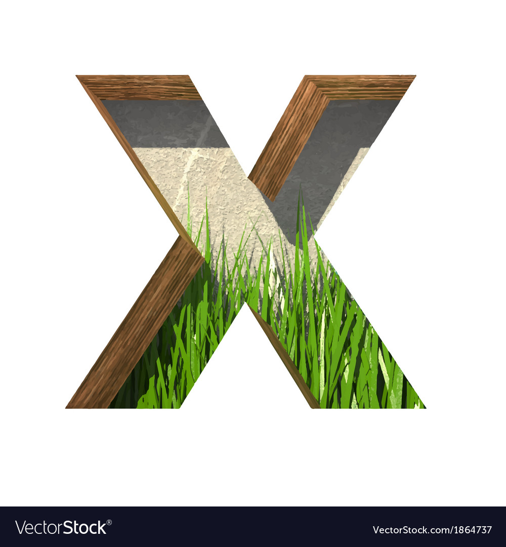 Grass cutted figure x paste to any background vector | Price: 1 Credit (USD $1)